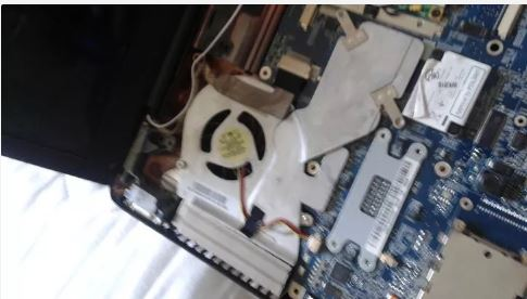 Unscrew the fan from the motherboard